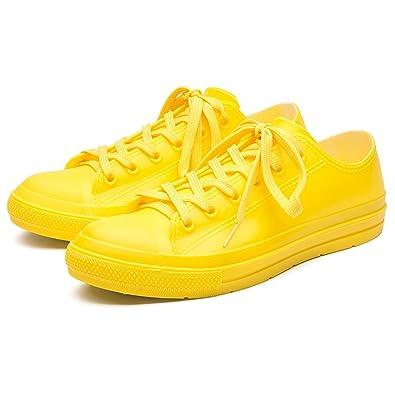 Frauen Regenstiefel, Anti-Rutsch-Kurze Stiefel, Mode Wasserschuhe, Lässig Regen Stiefel, Rutschfeste Gummischuhe, Low-Loeve-Schuhe (Farbe : Schwarz, Größe : 37)