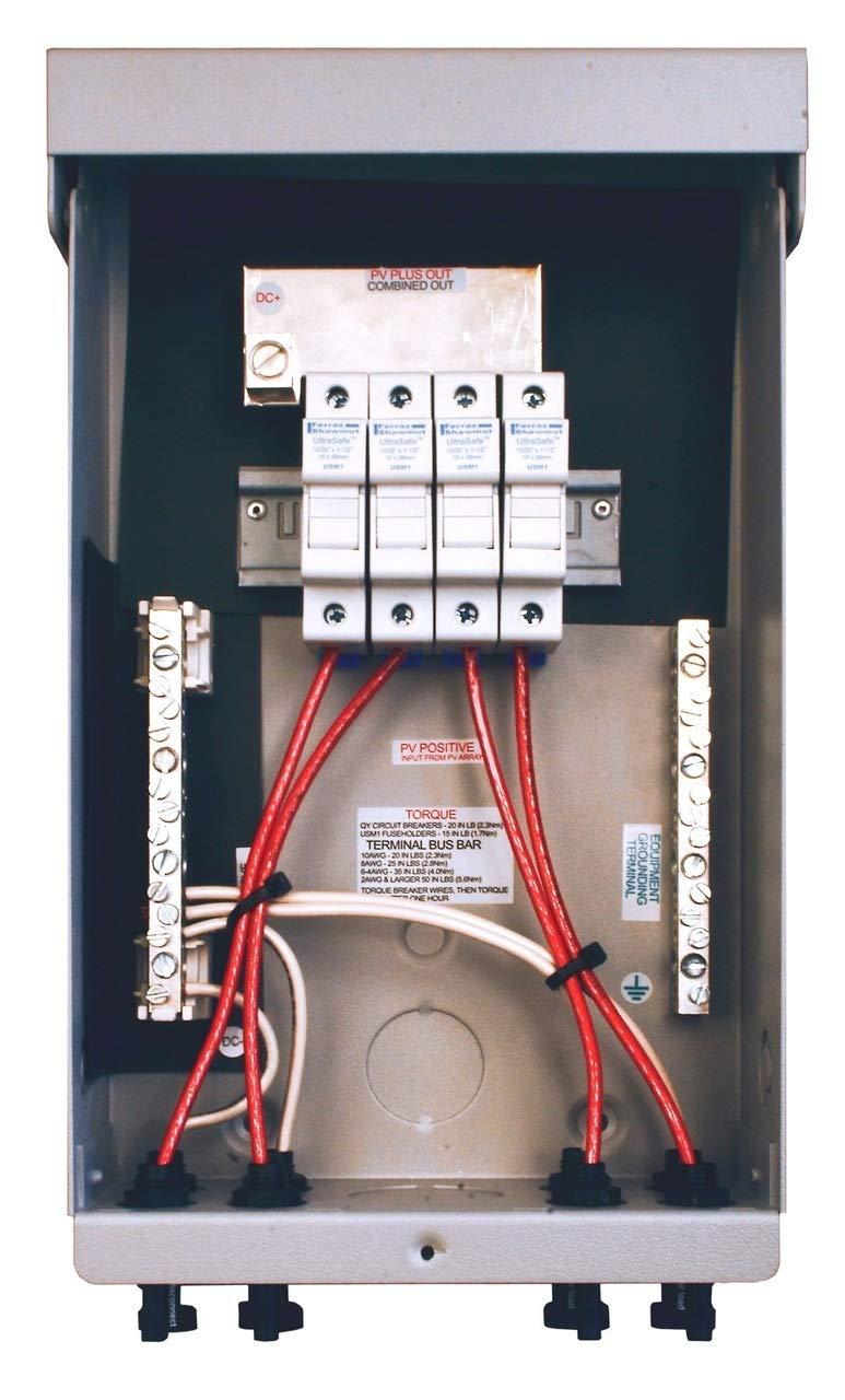 MidNite Solar MNPV4-MC4 4 Circuits Pre-Wired Combiner Box