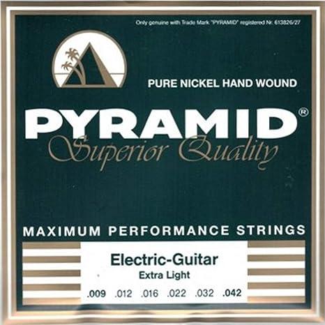 Pyramid D500 - Cuerdas para guitarra eléctrica (níquel puro, extra ...