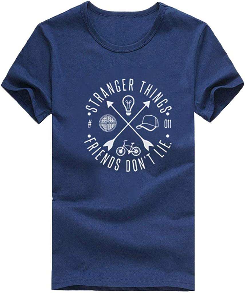 FEDULK Womens Funny T-Shirt Tops Short Sleeve O Neck Blouse Baggy Casual Comfort Fit Tunics