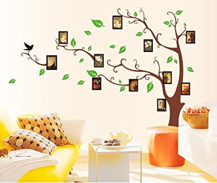 ec1fba20d Buy UberLyfe LARGE Photo Picture Frame Tree Vine Branch Wall Sticker - LEFT  FACING Size 4 (Color  Brown  Wall Covering Area  120cm x 170cm) -  WS-000912-BR ...