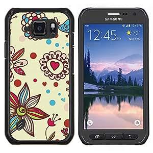 Eason Shop / Premium SLIM PC / Aliminium Casa Carcasa Funda Case Bandera Cover - Pétalo Bloom Corazones de San Valentín - For Samsung Galaxy S6 Active G890A