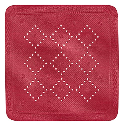 Spirella 71 x 36 PVC Alfombrilla de Ducha Rojo colecci/ón Alaska