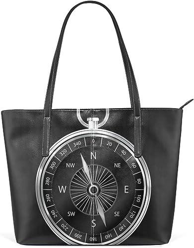 FANTAZIO Handbag Shoulder Compass On World Map Shoulder Handbag