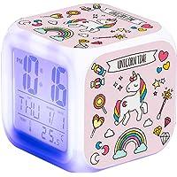 Despertador Unicornio para Niñas,Reloj de Cabecera con LED