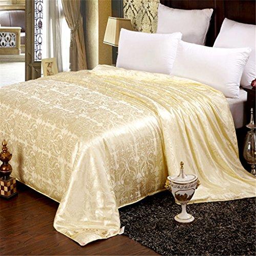 YUAKOU Natural Handmade MulBerry Silk Filled Duvet Silk Duvet Quilt Silk Comforter for All Seaso ...