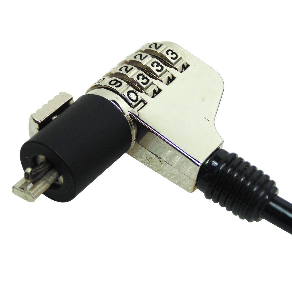 AIDATA Waytex 73513 Antivol slot dencrage avec C/âble haute s/écurit/é pour Ordinateur Portable Noir