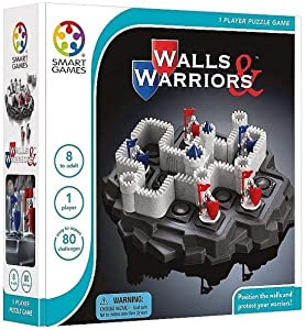 SmartGames Walls & Warriors Skill-Building Strategy Board Game for for Ages 8 and Up