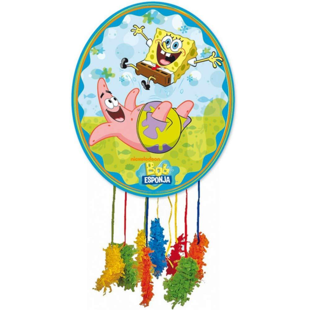 CAPRILO. Piñata Infantile Decorativa Multicolor Bob Esponja 65x46 cm. Juguetes y Regalos Fiestas de Cumpleaños, Bodas, Bautizos y Comuniones.