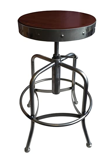 Holland Bar Stool Industrial Adjustable Screw Stool with Clear Coat Finish u0026 Distressed Wood Seat  sc 1 st  Amazon.com & Amazon.com: Holland Bar Stool Industrial Adjustable Screw Stool ... islam-shia.org