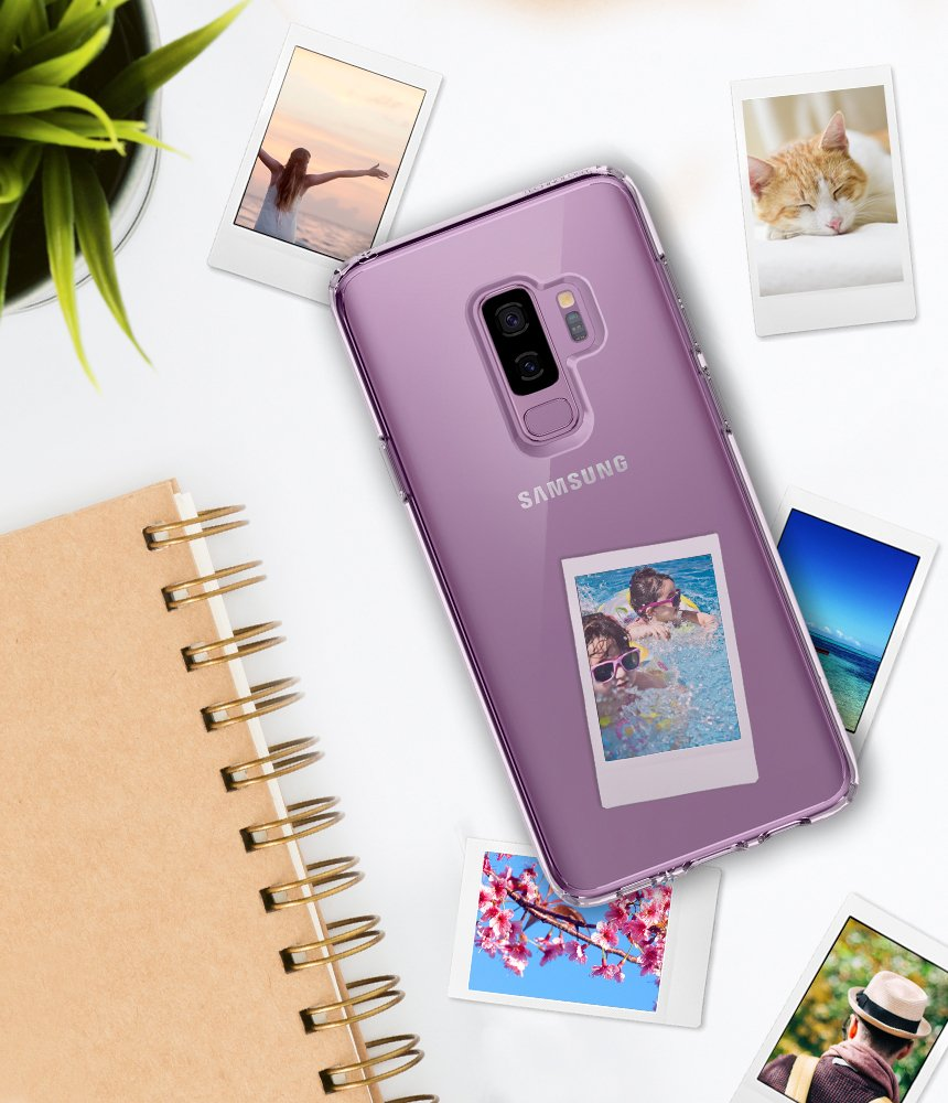 Spigen Ultra Hybrid Galaxy S9 Plus Case with Air Cushion Technology and Clear Hybrid Drop Protection for Samsung Galaxy S9 Plus (2018) - Crystal Clear by Spigen (Image #6)