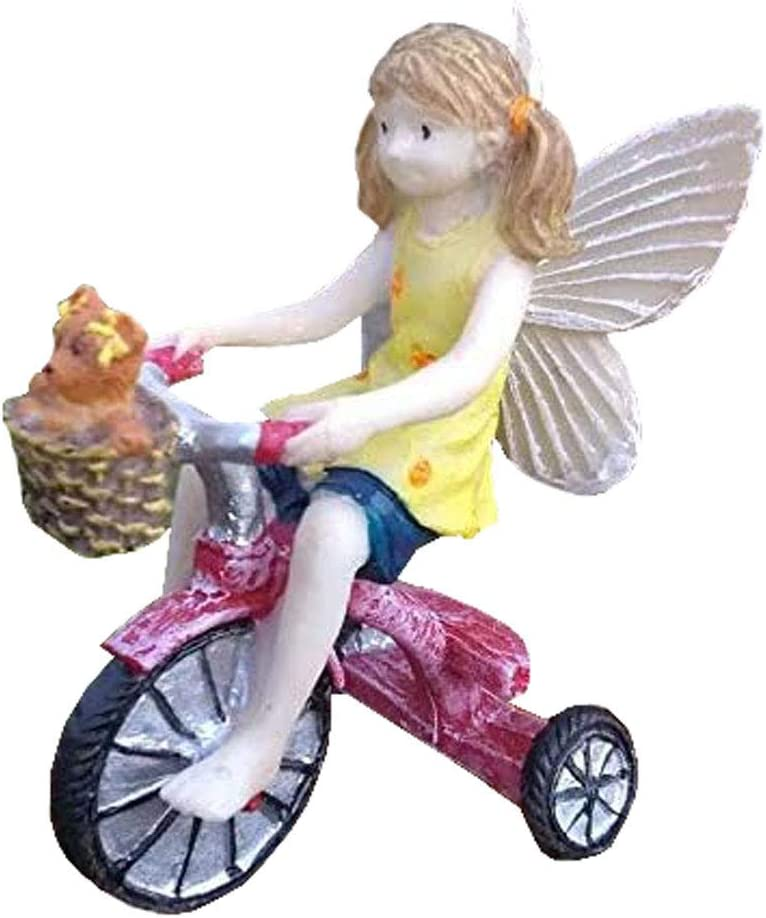 Miniature Fairy Garden Lizzy's Day Out II Fairy on Tricycle