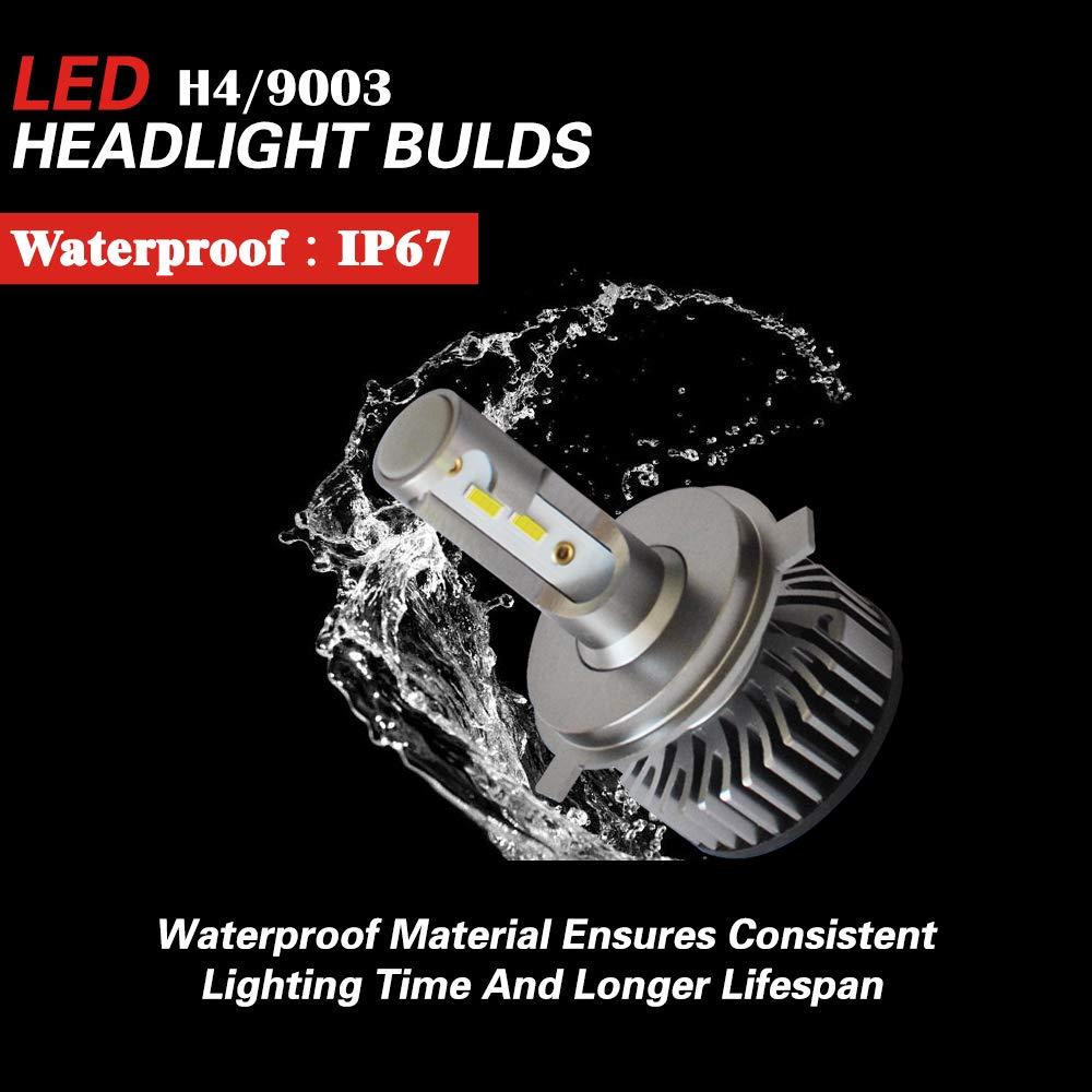 Pack of 2 Felixdeu H4//9003//HB2 LED Headlight Bulbs High//Low Beam or Fog Light Conversion Kit,10000 Lumens Extremely Bright 24xCSP Chips 6500K Xenon White