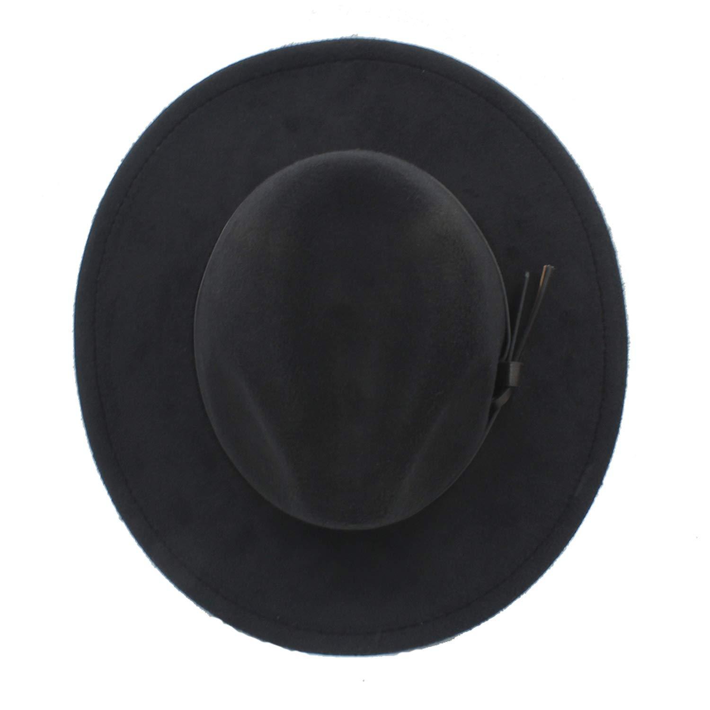 MingDe Sports Women Men Wool Fedora Hat with Wide Brim Gentleman Elegant Lady Autumn Jazz Church Sombrero Cap