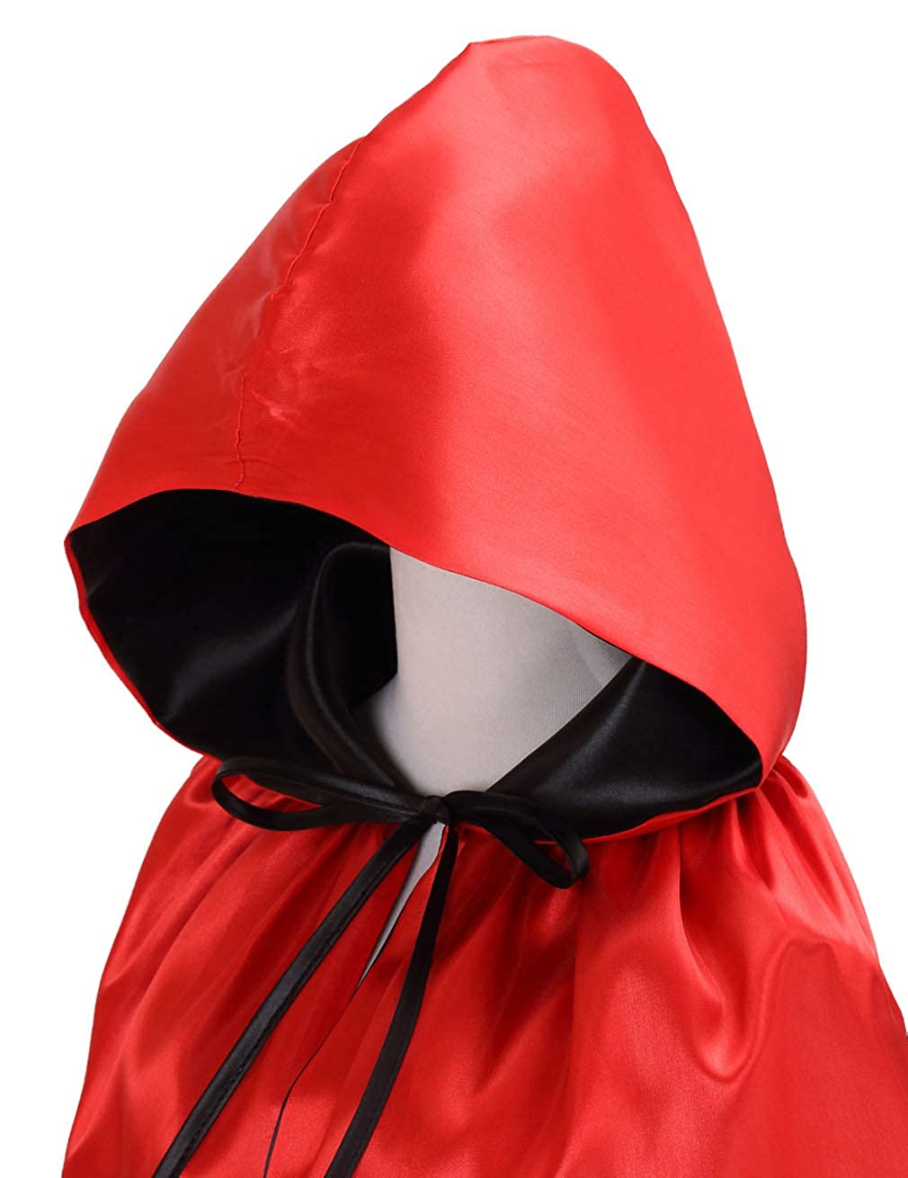 Hamour Unisex Reversible Hooded Cloak Halloween Christmas Party Wampire Cape Costumes