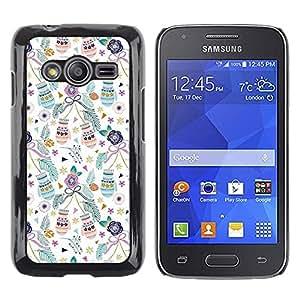 Be Good Phone Accessory // Dura Cáscara cubierta Protectora Caso Carcasa Funda de Protección para Samsung Galaxy Ace 4 G313 SM-G313F // Christmas mittens xmas holidays teal