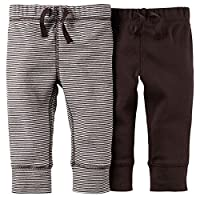 Carter's Baby Boys' 2 Pack Pants (Baby) - Brown/Brown Stripe - 3M