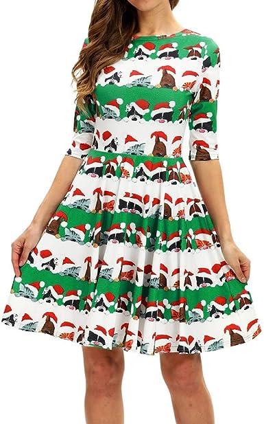 Vestido De Navidad Largo Manga Larga Mujer Invierno Fiesta Tallas Grandes Baratas Paolian Vestido Elegantes Casual Redondo Otono Traje De Navidad Santa Felpa Mascota Ropa Rebajas Mujer Amazon Es Ropa Y Accesorios