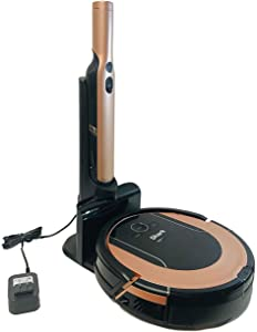 Lutema Shark ION Robot Vacuum Cleaning System with Detachable Hand Vacuum S86 (Rose Gold)| Wi-FiApp Controlled & Smart Sensor Navigation 2.0 | Hepa Anti-Allergen RV852 (Renewed)