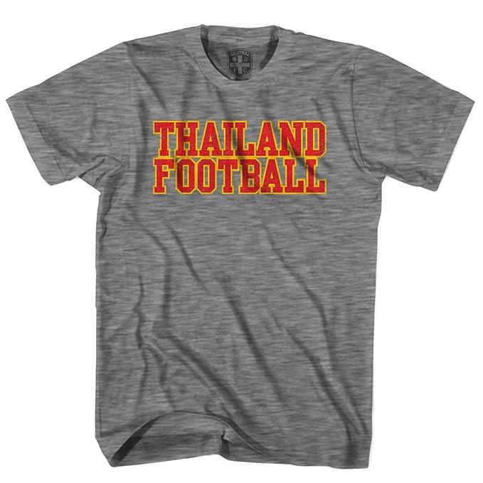 Tailandia Naciones de fútbol camiseta gris gris L