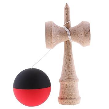 Motorikspielzeug Kendama Kugelfangspiel Ballspiel Holzpielzeug Kinder Balance Training Toy Sonstige