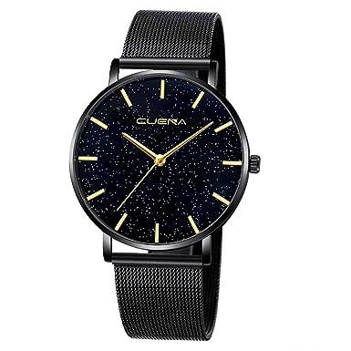 BBestseller Reloj de Pulsera Elegante para Mujer CUENA Relojes de Cuarzo con Cinturón Moda Accesorios Watches (Negro): Amazon.es: Ropa y accesorios