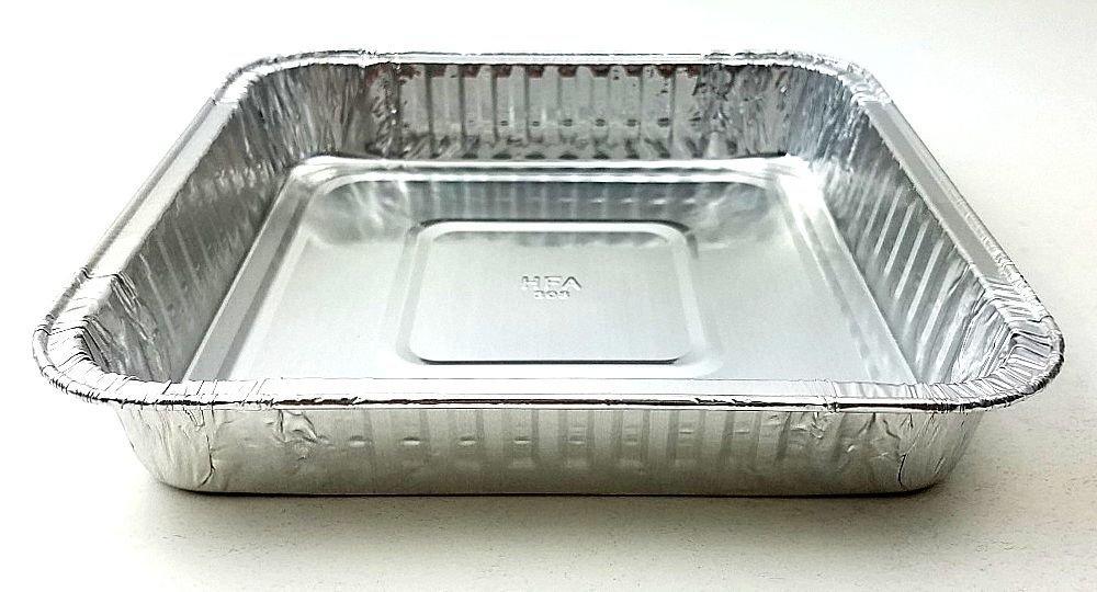 Handi-Foil Square Aluminum Foil Cake Pan - Disposable Baking Tin REF# 308 (50)