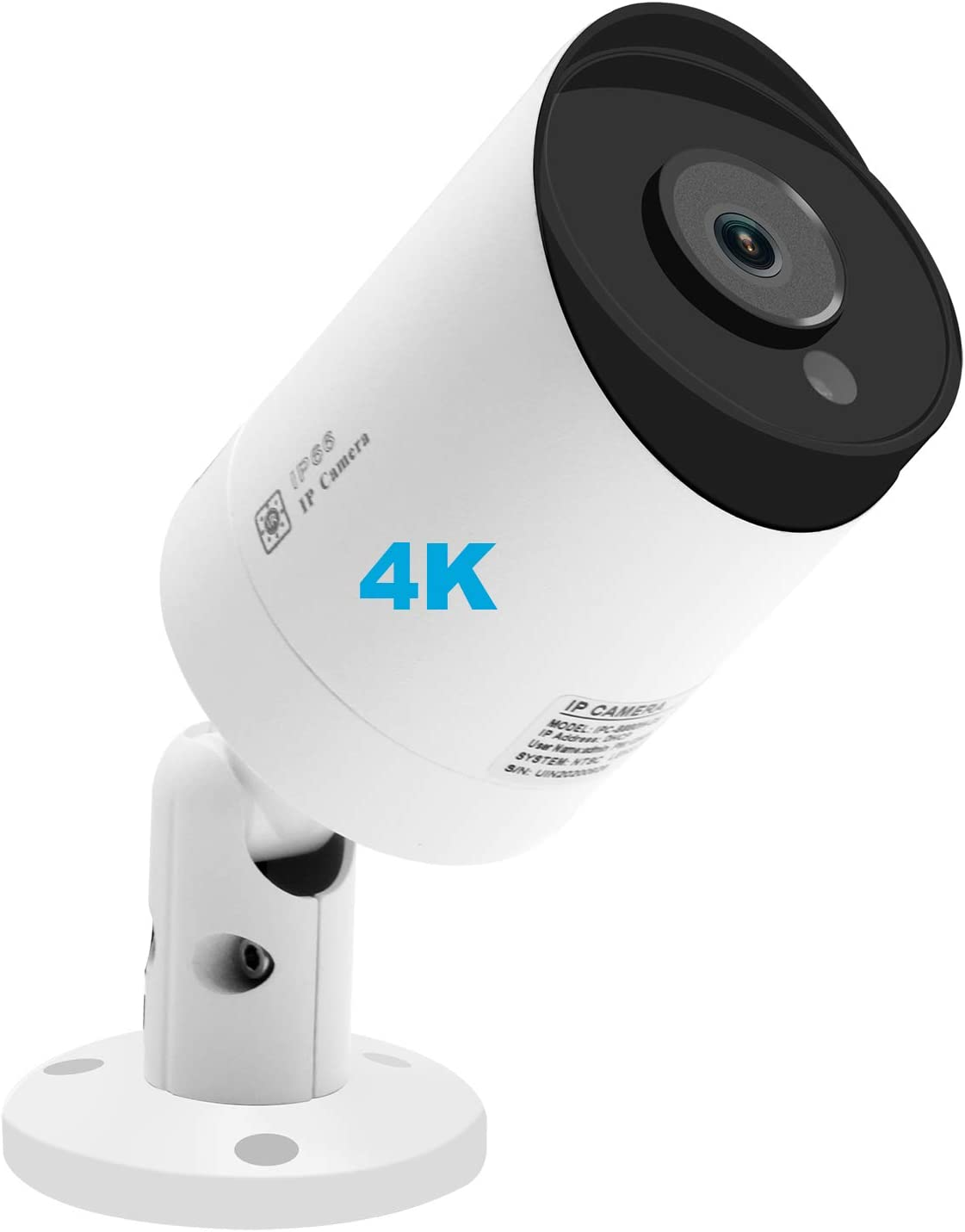 Anpviz 4K 8MP IP66 POE IP Security Bullet Camera Indoor Outdoor with Microphone, Audio, Wide Angle 2.8mm Lens,3864x2160 Megapixels UltraHD 98ft,SD Card Slot, IPC-B880WD-S