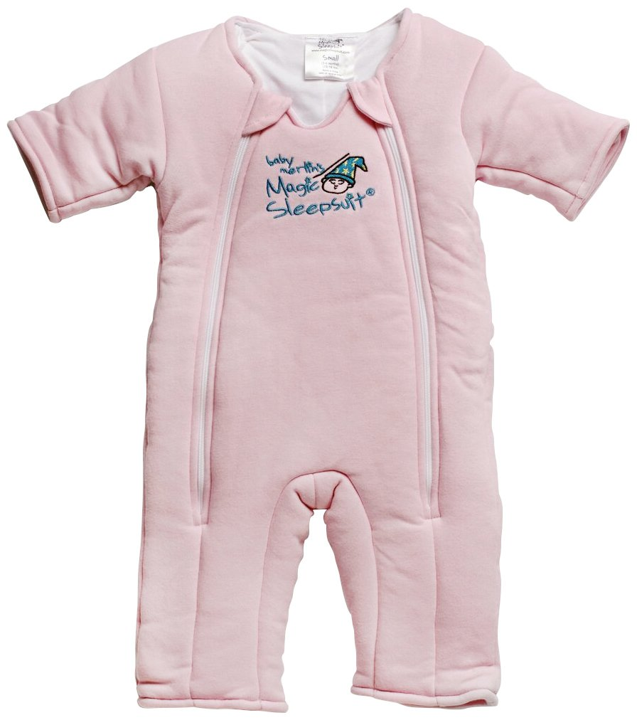 Baby Merlin's Magic Sleepsuit - Swaddle Transition Product - Cotton - Pink - 3-6 months by Baby Merlin's Magic Sleepsuit