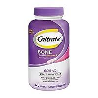Caltrate 600+D3 Plus Minerals (165 Count) Calcium & Vitamin D3 Supplement Tablet, 600 mg