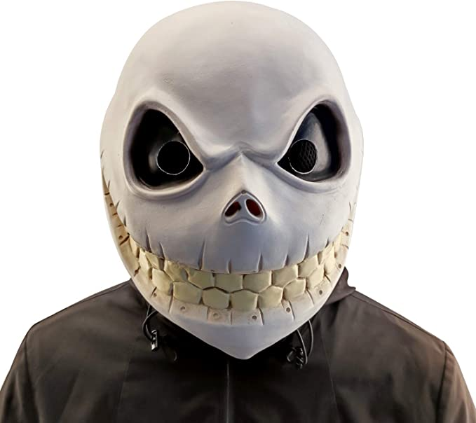 Amazon.com: Ipearl Jack Skellington Head Mask,Halloween Pumpkin King Costume,Latex White: Clothing