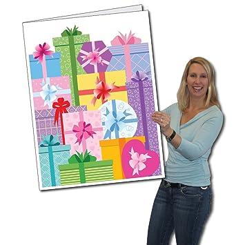 Amazon.com: 2 x 3 gigante Tarjeta de cumpleaños, regalos ...