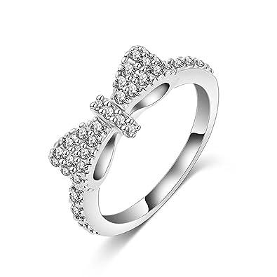 Cosanter anillo de oro blanco anillo abierto anillo ajustable 1 1 para la venta