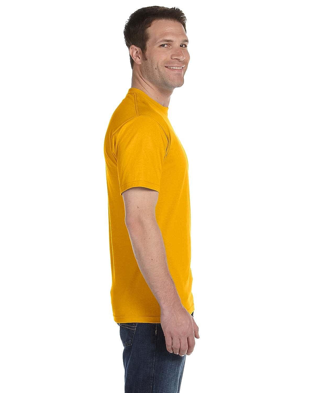 5XL Pack of 10 Gold Gildan Adult DryBlend Sports T-Shirt