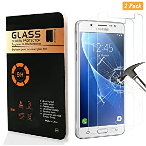 Samsung Galaxy J5 (2016) Protection d'écran,Verre Trempé Nakeey Tempered Glass Screen Protector Dureté 9H, 2.5D [Lot de 2] Tempered Glass film de protection pour Samsung Galaxy J510