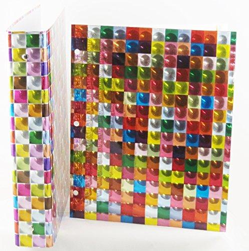 - 3D Design Binder with 2 Portfolio folders (Square Rainbow Set)
