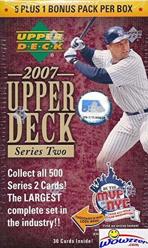 7425436682c7 2007 Upper Deck Series 2 Baseball Factory Sealed Blaster Box with 6 Packs!  Look for Rare Derek Jeter Autograph and Game Used Memorabilia Cards!