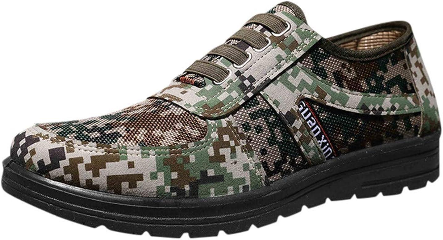 Zapatos de Seguridad para Hombre Ligeros Comodos Zapatos Deportivos Camuflaje Calzado Militares Zapatillas Trail Running Trekking Andar Casual Antideslizante(Verde,39): Amazon.es: Zapatos y complementos
