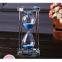 MINGZE Temporizador de reloj de arena de cristal