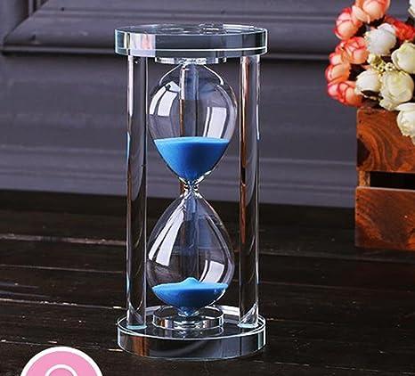 MINGZE Temporizador de reloj de arena de cristal transparente Reloj de arena Artesanía decoración de vidrio, 15 minutos / 30 minutos / 60 minutos ...