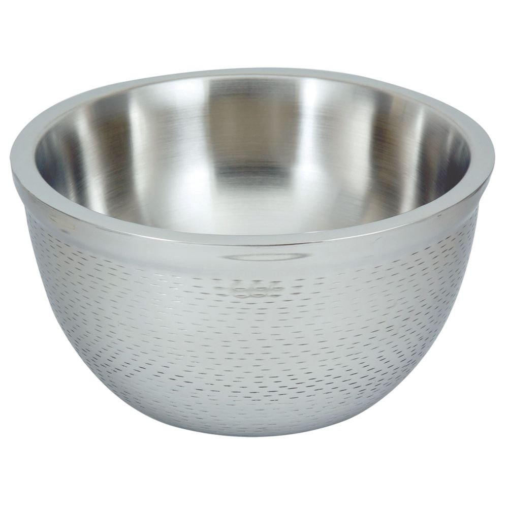 TableCraft Products RB11 Round Double Wall Bowl, Stainless Steel