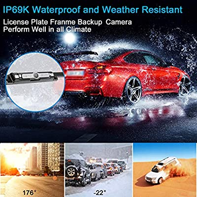 Digital Wireless Backup Camera /&4.3 Monitor kit RV//Car//Trailer//Truck//Motorhome High-Speed Observation System IP68 Waterproof Rear//Side//Front View Continous//Reversing Use Guide Lines ON//Off DohonesBest