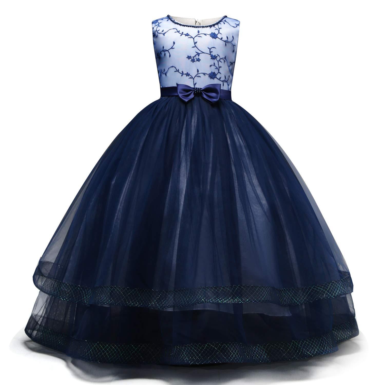 Amazon.com: NNJXD - Vestido de novia con diseño de flores ...
