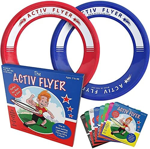 Activ Life Kid's Flying Rings [2 Pack] Fly Straight & Don't Hurt – 80% Lighter Than Standard Flying Discs – Replace Screen Time with Healthy Family Fun – Get Outside & Play! Made in USA