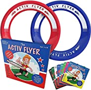 Activ Life Kid's Flying Rings [2 Pack] Fly Straight & Don't Hurt - 80% Lighter Than Standard Flying Di