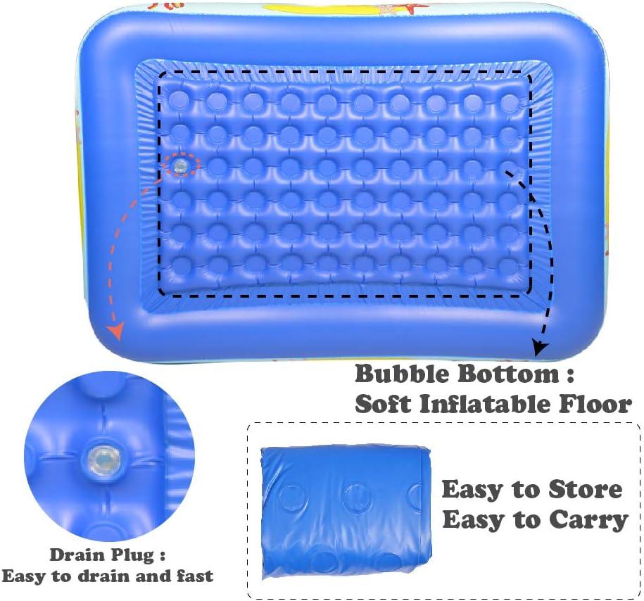 Amazon.com: WateBom - Piscina hinchable con suelo suave ...