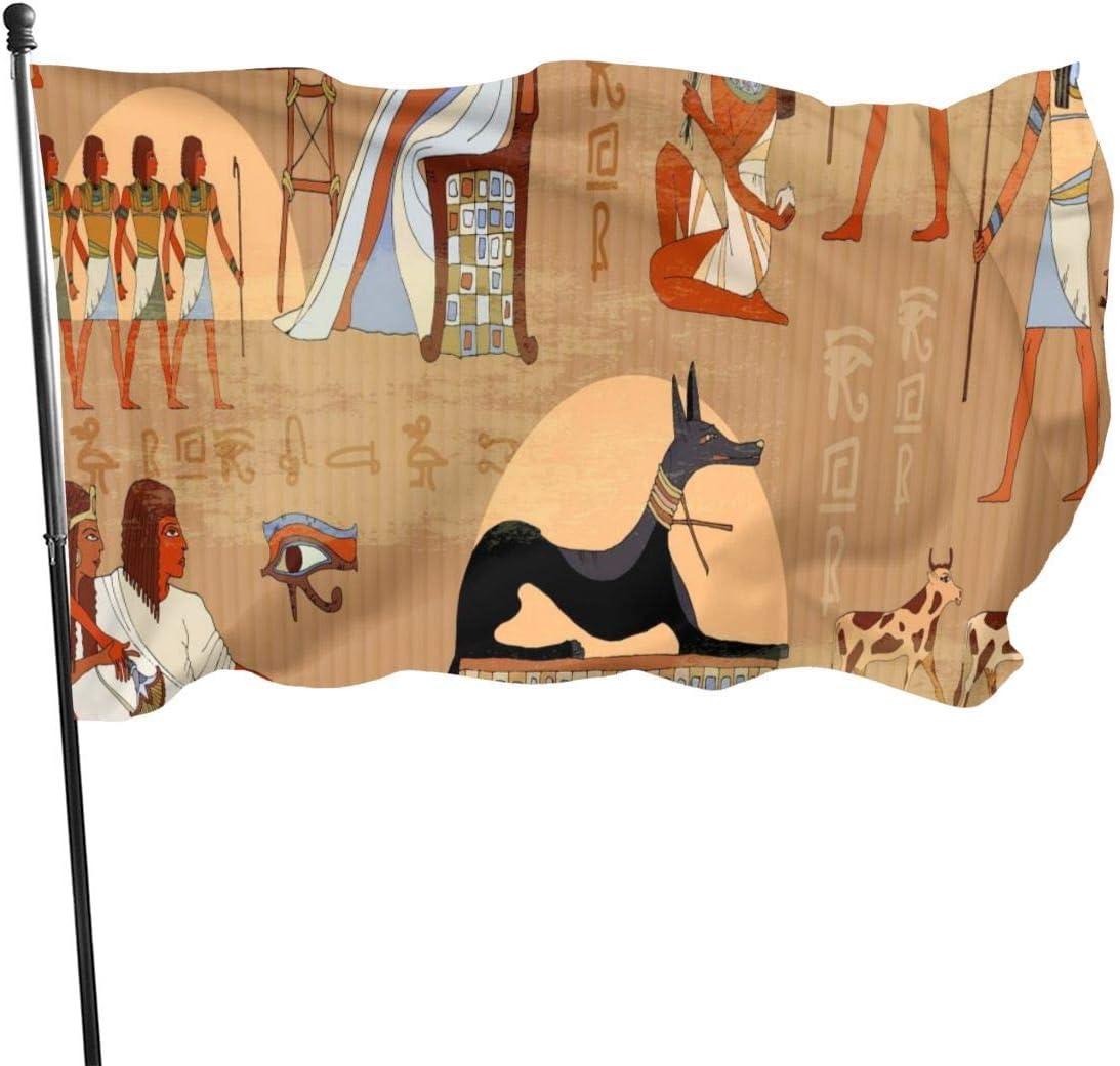 Hao-shop Bandera Decorativa de Color Brillante del Antiguo EgiptoInterior al Aire Libre Decoración del hogarBanner Banner