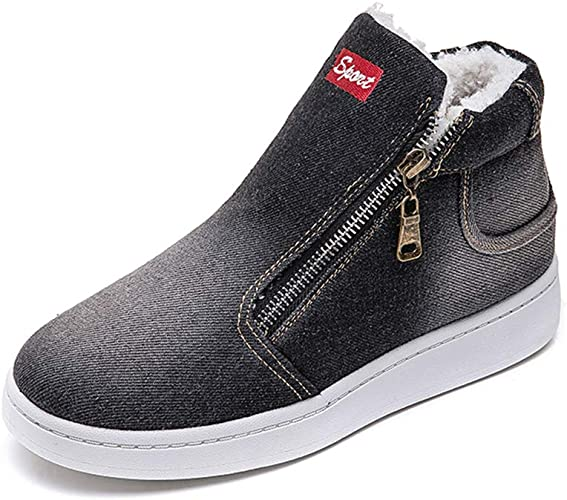 Canvas Ankle Boots Casual Zip Shoes