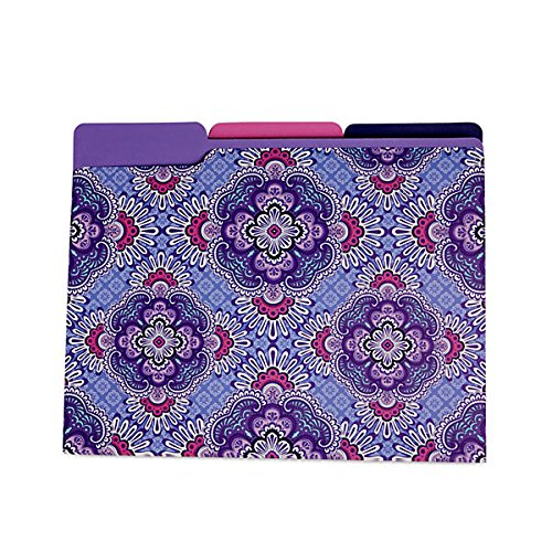 Vera Bradley File Folders in Lilac (Lilac File Folders)