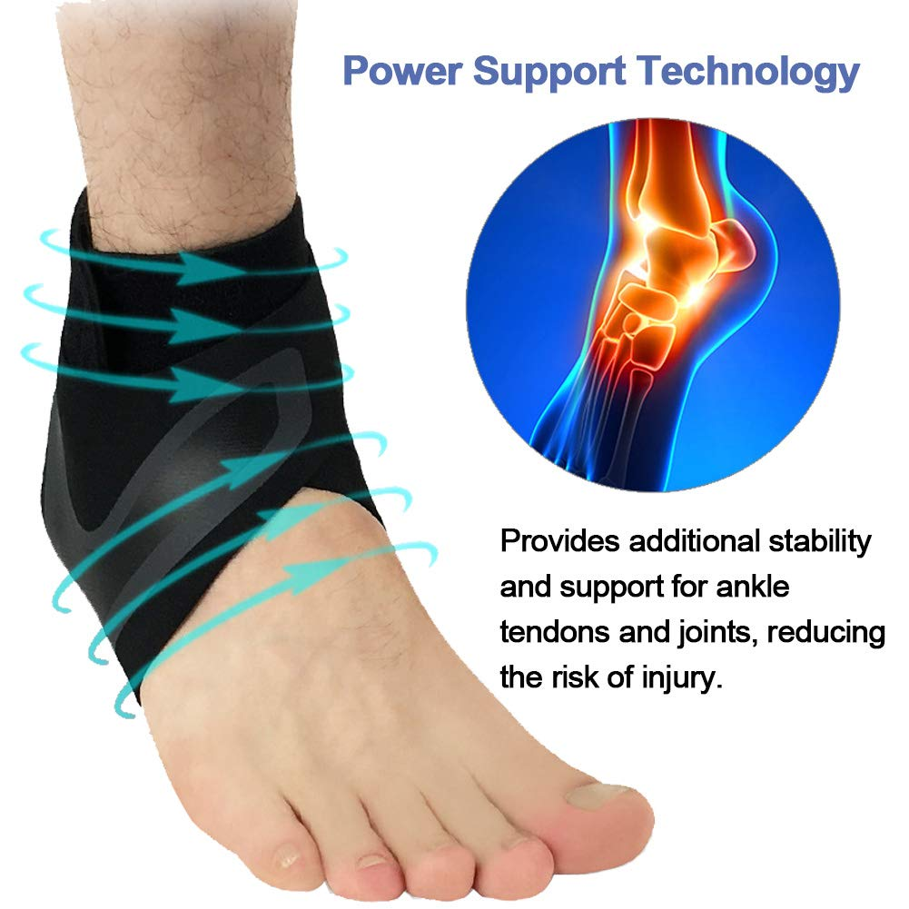 Beister 1 Pair Ankle Support Breathable Neoprene Compression Ankle Brace for Men and Women